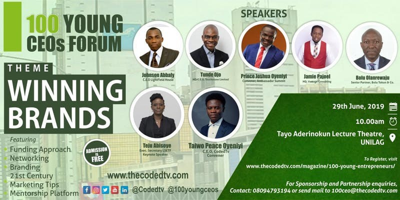 100 YOUNG CEO FORUM – JUNE 2019 EDITION