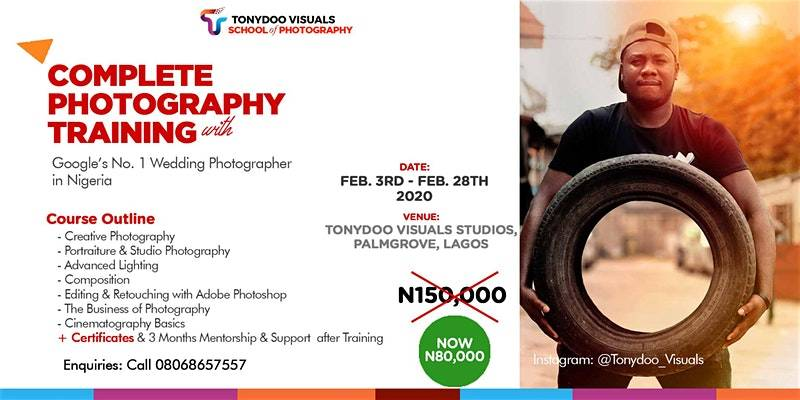 50% Discount Intensive Lagos Photography Classes – February 3rd, March 2nd