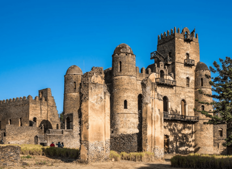 Fasil Ghebbi the remains of a fortress-city within Gondar, Ethiopia.