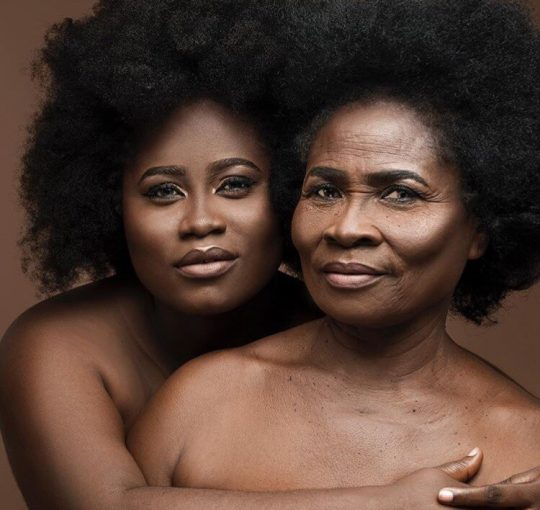 Two generations celebrating black beauty black womanhood