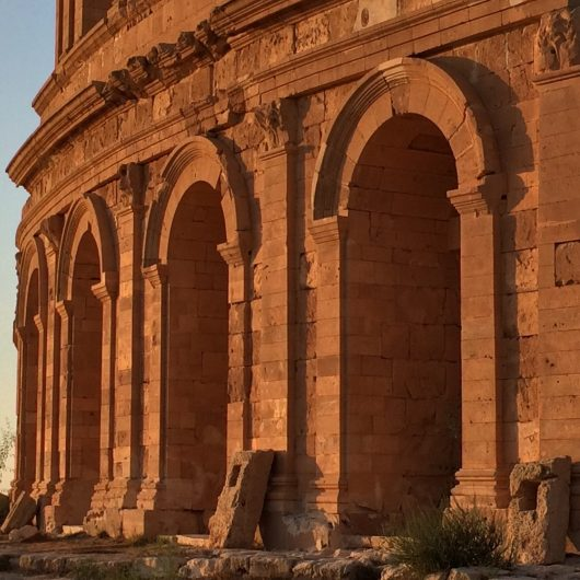 Monuments in the city of Sabratha Libya